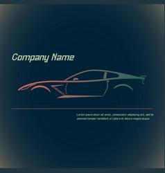 Concept street sportscar vector