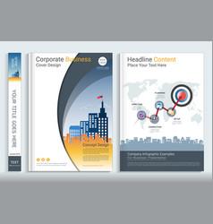 Corporate cover book design template vector