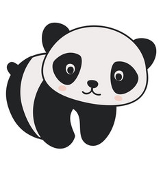 cute little panda on white background vector image