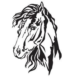 Decorative portrait of horse 1 vector