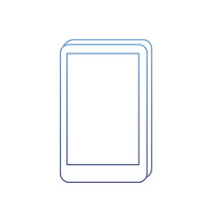 degraded outline electronic screen smartphone vector image