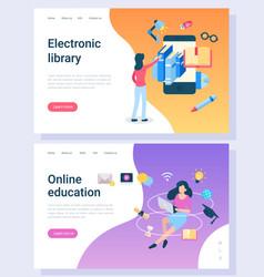 distance education information online vector image
