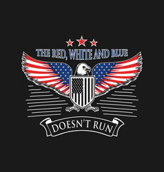 eagle american flag design template vector image