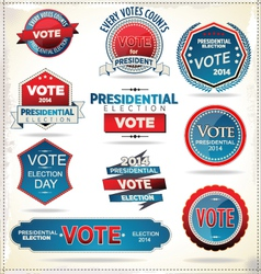 Election badges and labels vector image