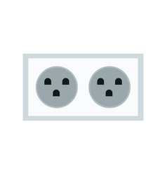electric double socket energy power vector image