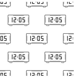 electronic watch black and white seamless pattern vector image