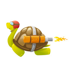 fast flying turtle vector image
