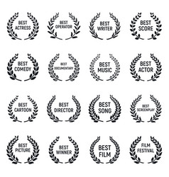 Film festival icons set simple style vector