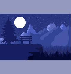 Forest reserve and park vector