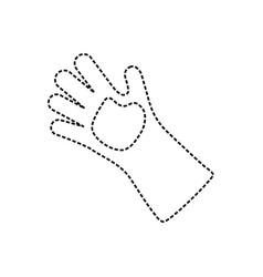 garden glove vector image
