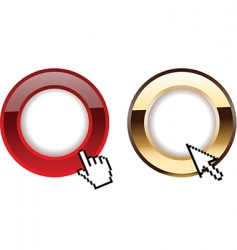 glow rings and computer cursors vector image