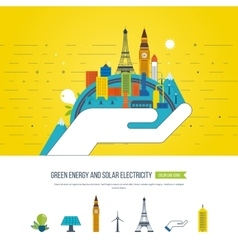 Green eco and eco-friendly city Smart city vector