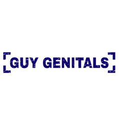 Grunge textured guy genitals stamp seal inside vector