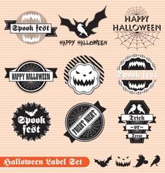 Halloween labels set vector