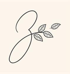 handwritten letter z monogram or logo brand vector image