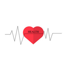 heart as symbol of healthcare minimum design vector image