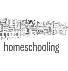 How to homeschool your child vector