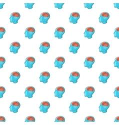 Human brain pattern cartoon style vector image