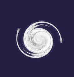 hurricane on blue vector image