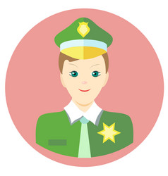 Icon man sheriff in a flat style image on vector
