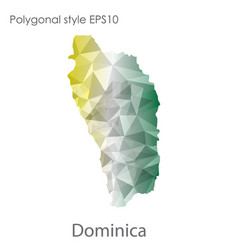 Isolated icon dominica map polygonal geometric vector