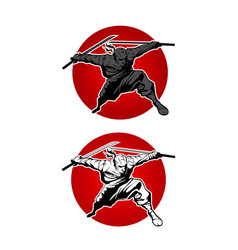 japan ninjas sport logo concept vector image