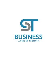 letter st logo design template vector image