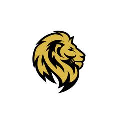 Lion logo emblem design vector