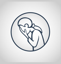 major depressive disorder icon vector image