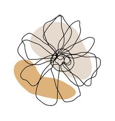 Minimal card floral art design vector