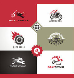 motorbikes symbols and emblems vector image