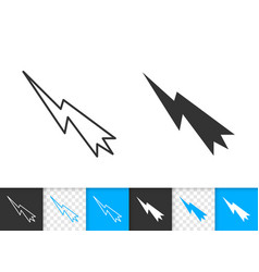 Mouse cursor simple black line icon vector