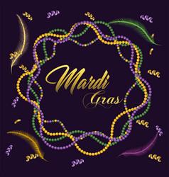 necklace decoration to merdi gras celebration vector image