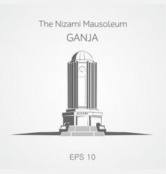 Nizami mausoleum ganja azerbaijan vector