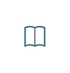 open book icon design stationery icon design vector image