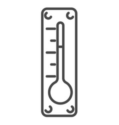 outdoor thermometer icon outline style vector image