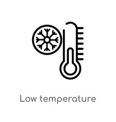 outline low temperature icon isolated black vector image