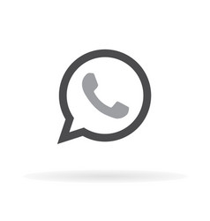 phone icon web mobile flat design vector image