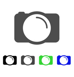 Photo camera flat icon vector