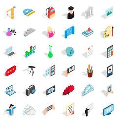 photo icons set isometric style vector image