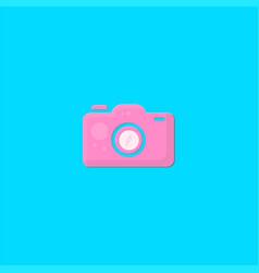 pink camera logo design symbol dan icon template vector image