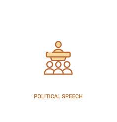 Political speech concept 2 colored icon simple vector
