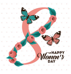 Poster international happy womens day 8 march vector