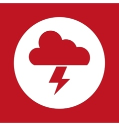 Red cloud and thunder design vector