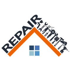 repair tools and house symbol vector image