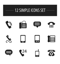Set of 12 editable device icons includes symbols vector