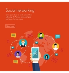 Social media network marketing vector
