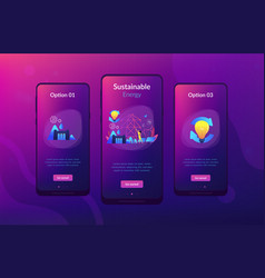 sustainable energy app interface template vector image