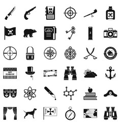 travel in nature icons set simple style vector image