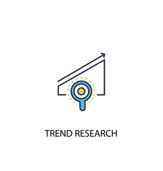 trend research concept 2 colored line icon simple vector image